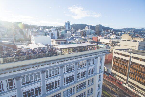 high angle rooftop